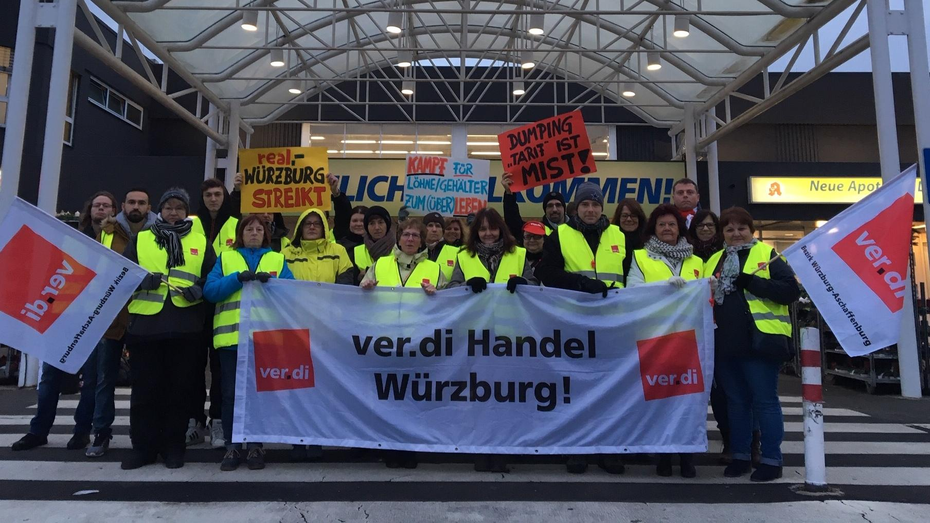 Real-Streik in Würzburg