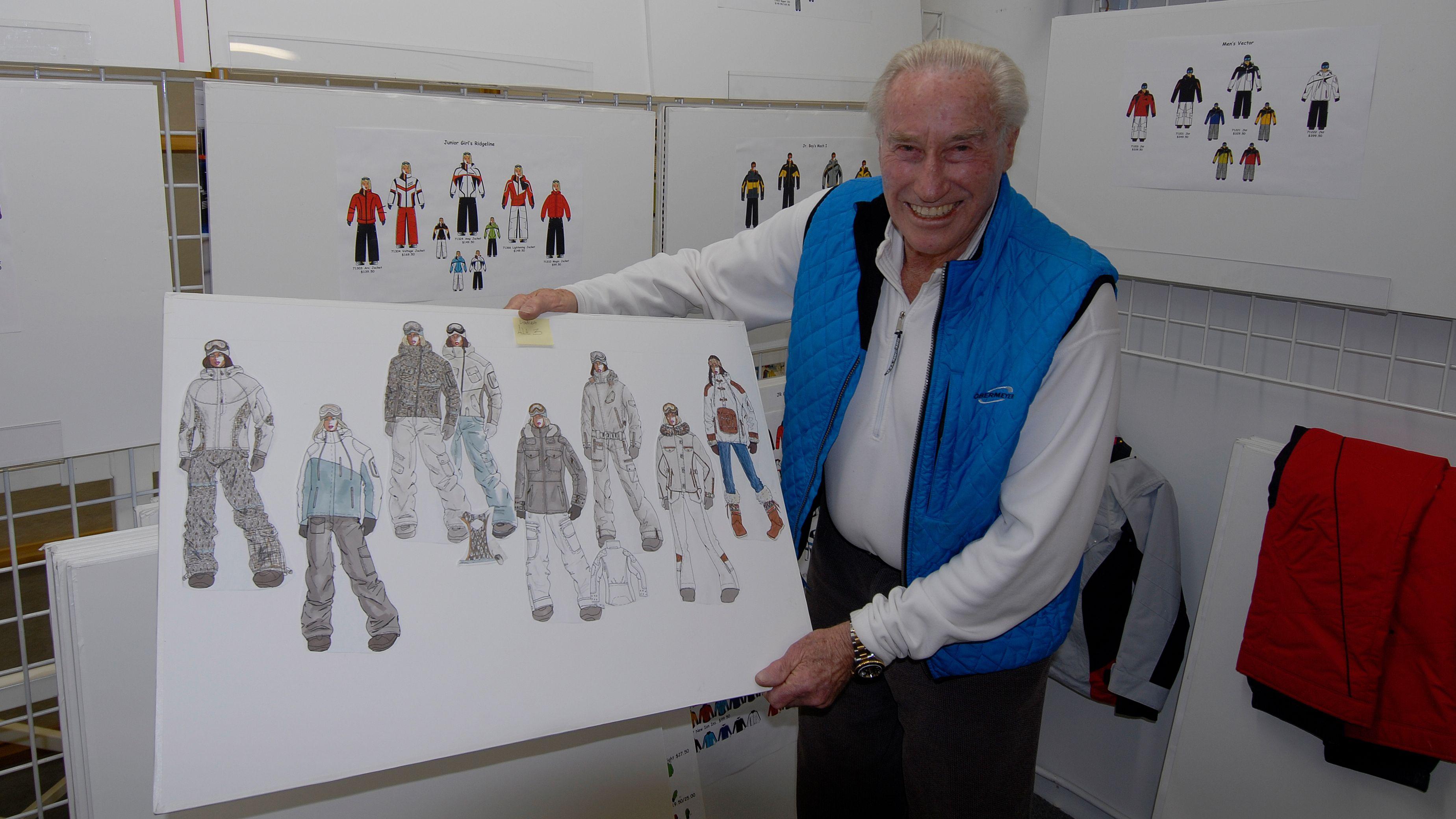 Klaus Obermeyer zeigt Entwürfe für Skimode