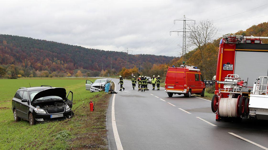 Verkehrsunfall mit vier Verletzten bei Großheubach