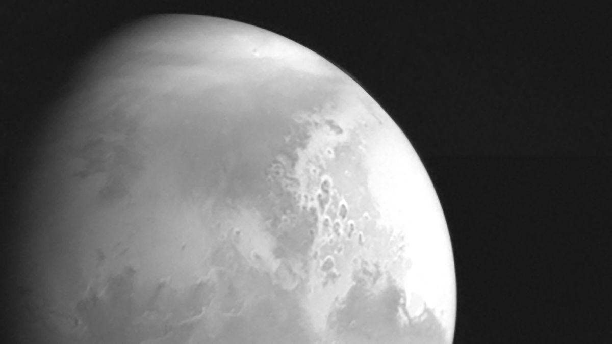 Erstes Aufnahme des Mars von Tianwen-1