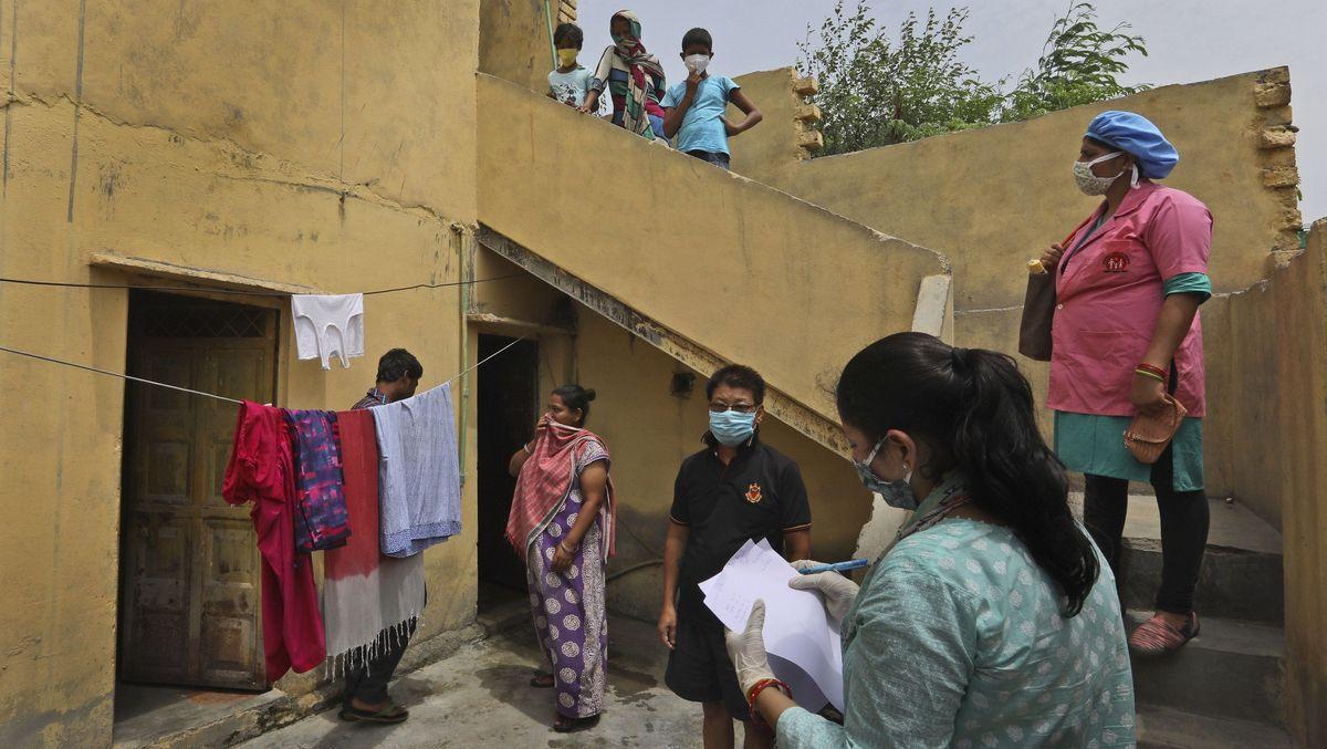 Gesundheitsbefragung in Neu Delhi