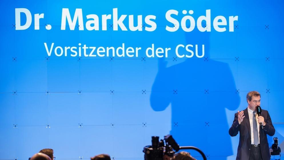 CSU-Sonderparteitag   Bild:dpa-Bildfunk/Peter Kneffel