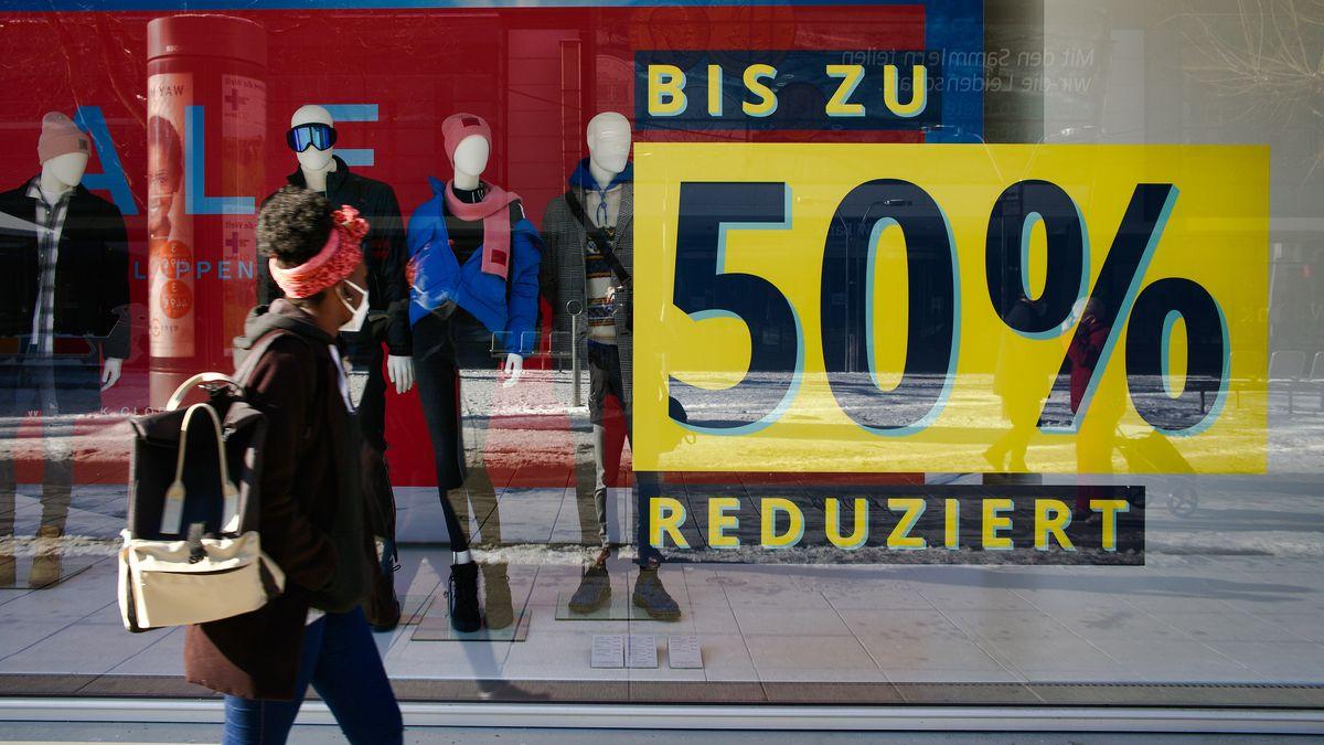 Preisnachlass bei einem Modehändler