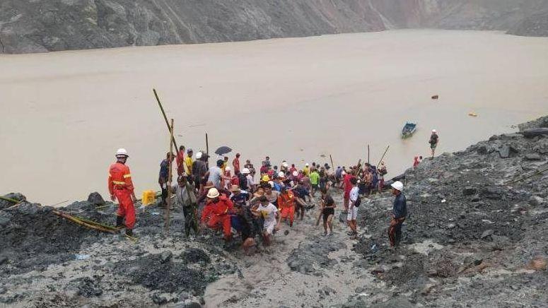 Erdrutsch in Myanmar
