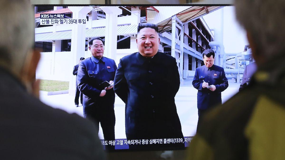 Kim Jong Un bei einem Fernsehauftritt