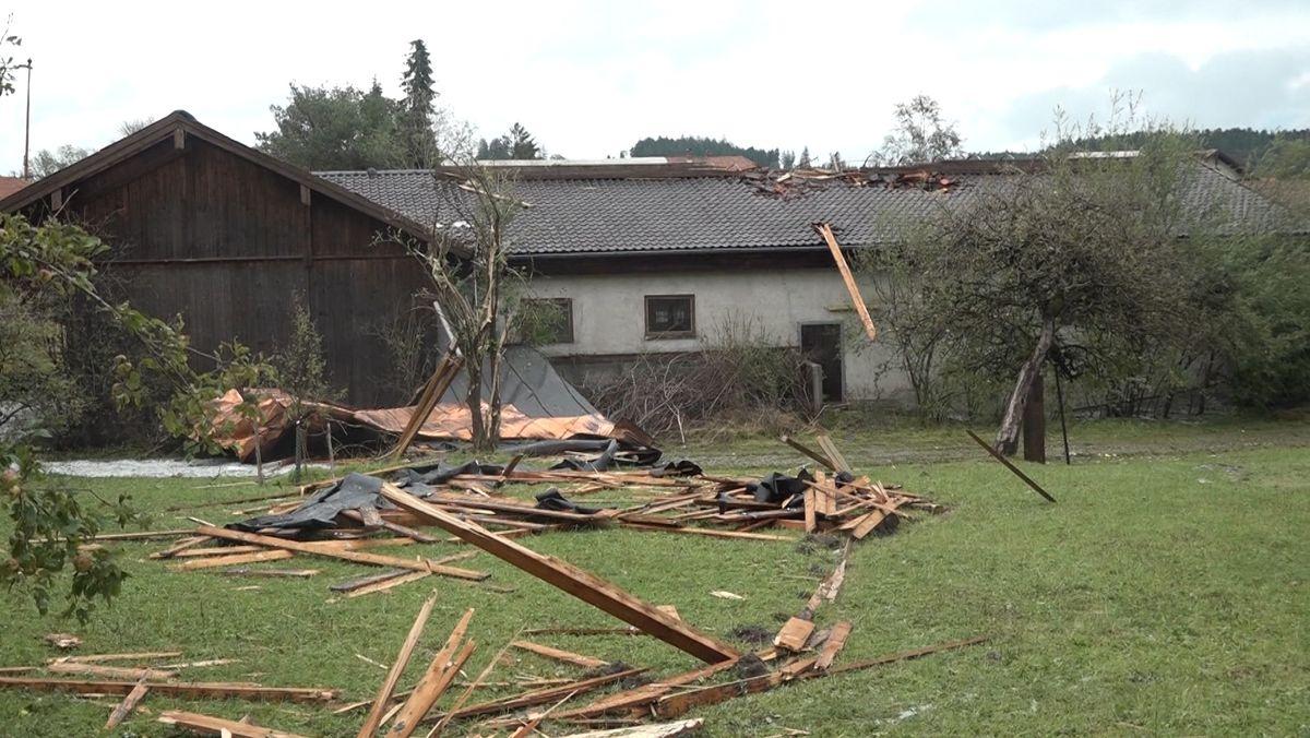 Unwetterschäden im Chiemgau
