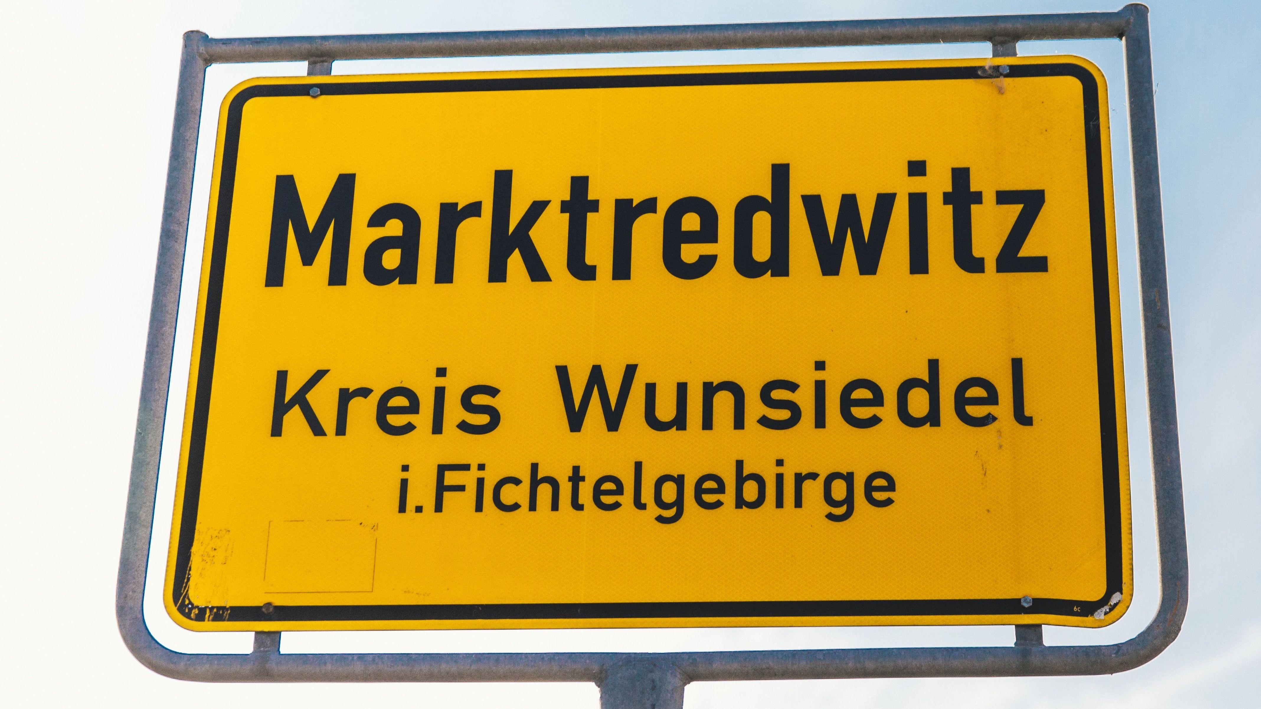 Ortsschild von Marktredwitz