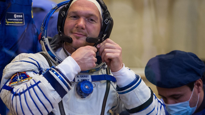 Astronaut Alexander Gerst vor dem Start zu seiner 2. ISS-Mission