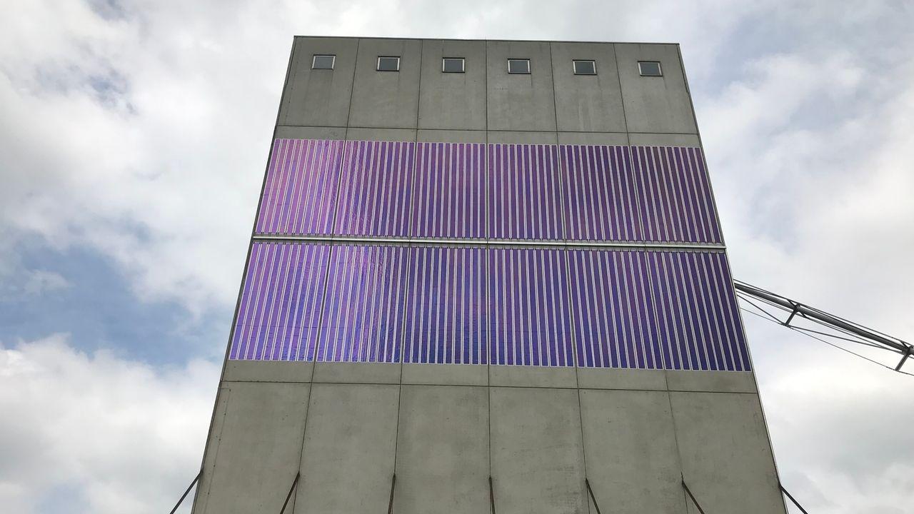 Solarfolie an der Schneller Mühle in Donauwörth
