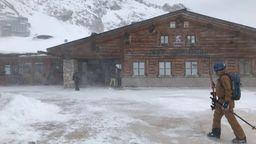 Die ersten Wintersportler sind bereits auf der Zugspitze aktiv. | Bild:BR