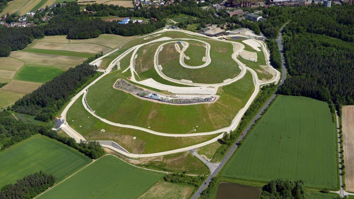 Luftbild des Schlackenbergs