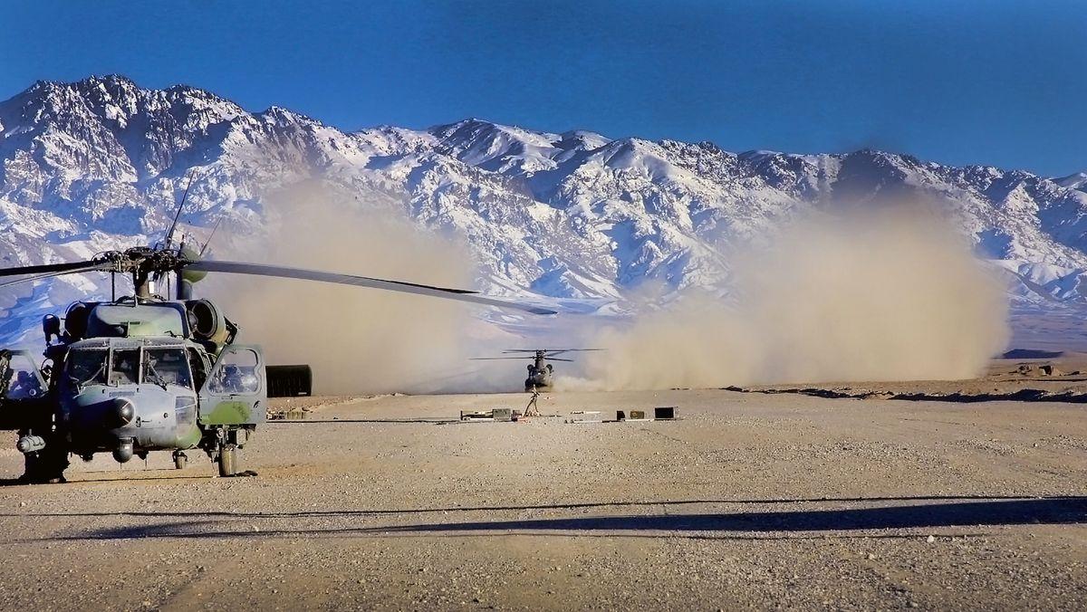 Ein Hubschrauber der U.S.-Army landet im Norden Afghanistans.