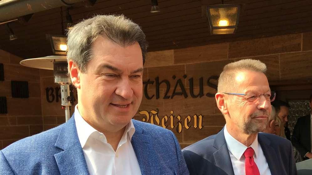Markus Söder mit BR-Hörfunkdirektor Martin Wagner | Bild:BR/Stanislaus Kossakowski