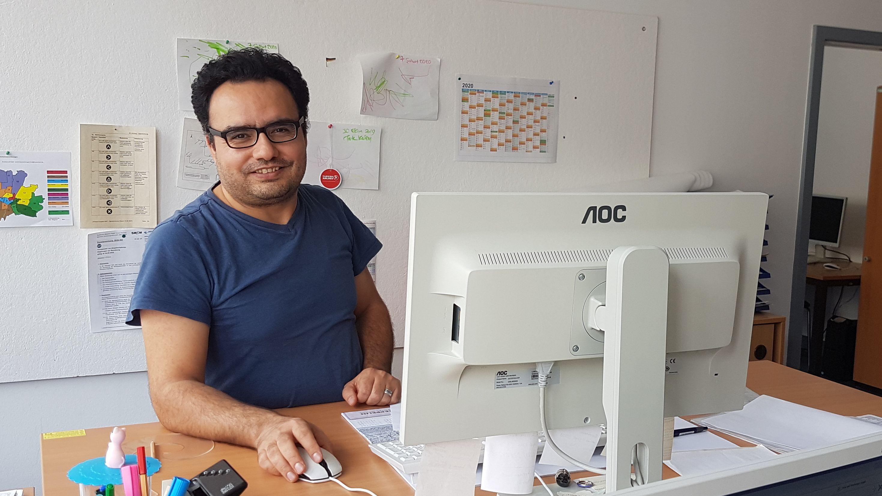 Mustafa Erciyas arbeitet als Verkehrsingenieur bei der Stadt München.