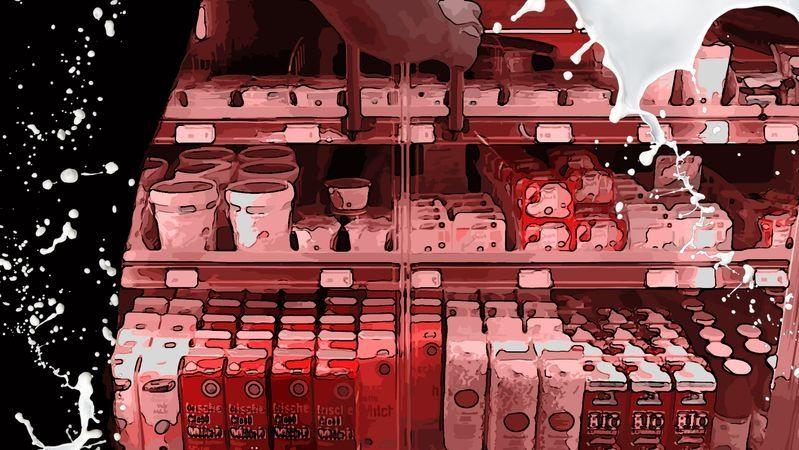 Symbolbild: Milchprodukte in einem Supermarkt
