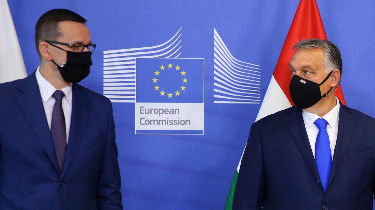 Der polnische Premierminister Mateusz Morawiecki (l.) und sein ungarischer Kollege Viktor Orban protestieren gegen das geplante Haushaltsgesetz