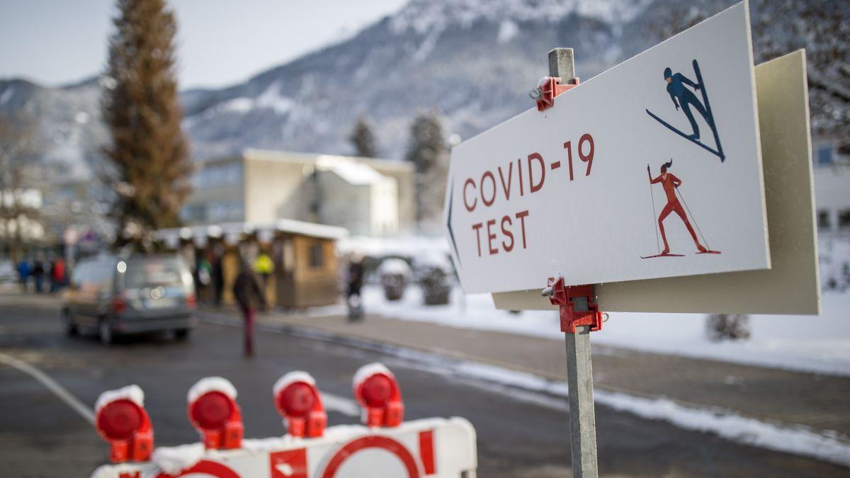 Hinweis auf Covid19-Test in Oberstdorf