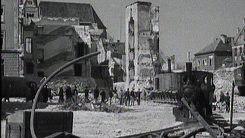 Das zerstörte Augsburg nach dem Zweiten Weltkrieg