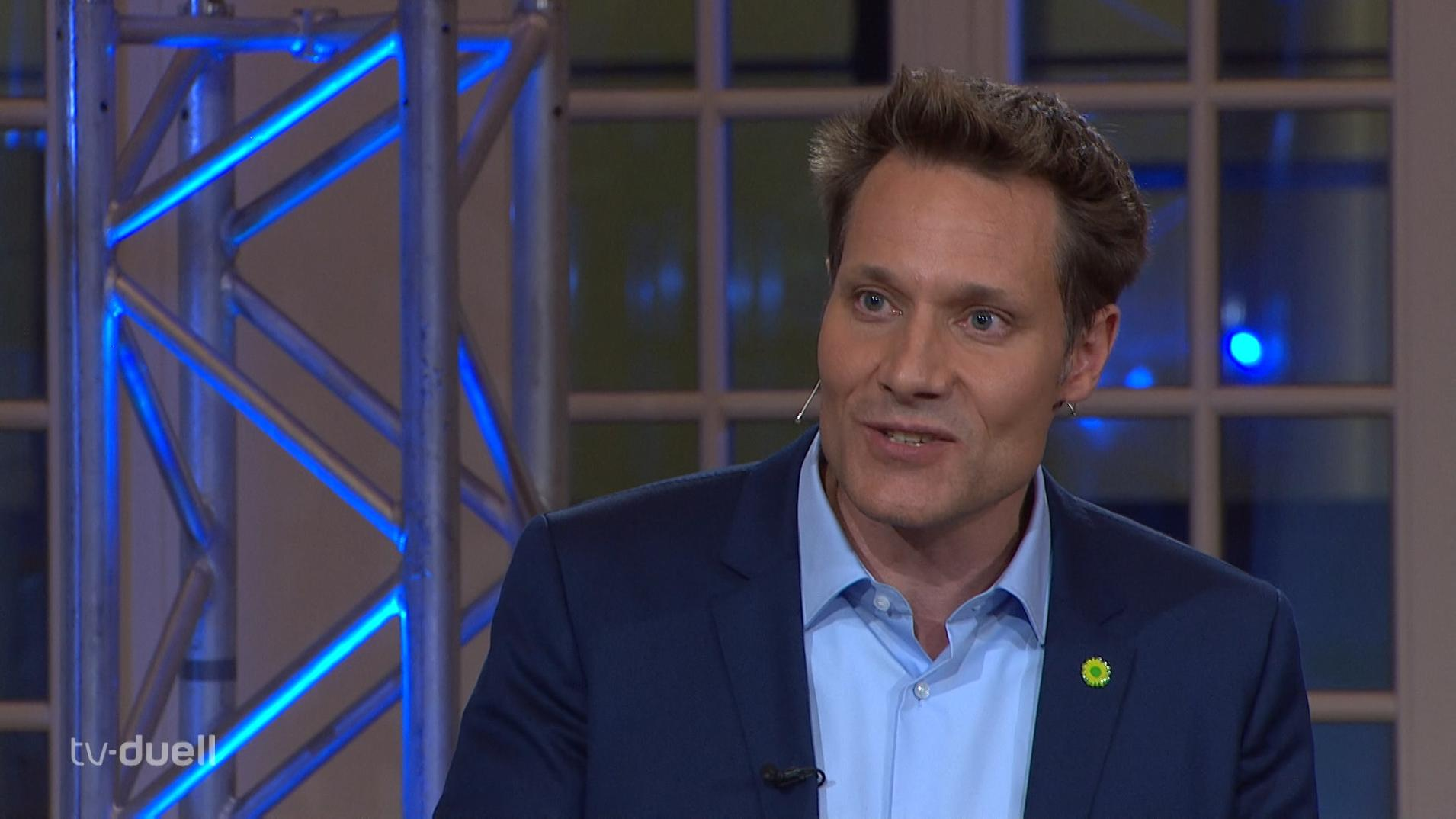 Grünen-Spitzenkandidat Ludwig Hartmann im TV-Duell
