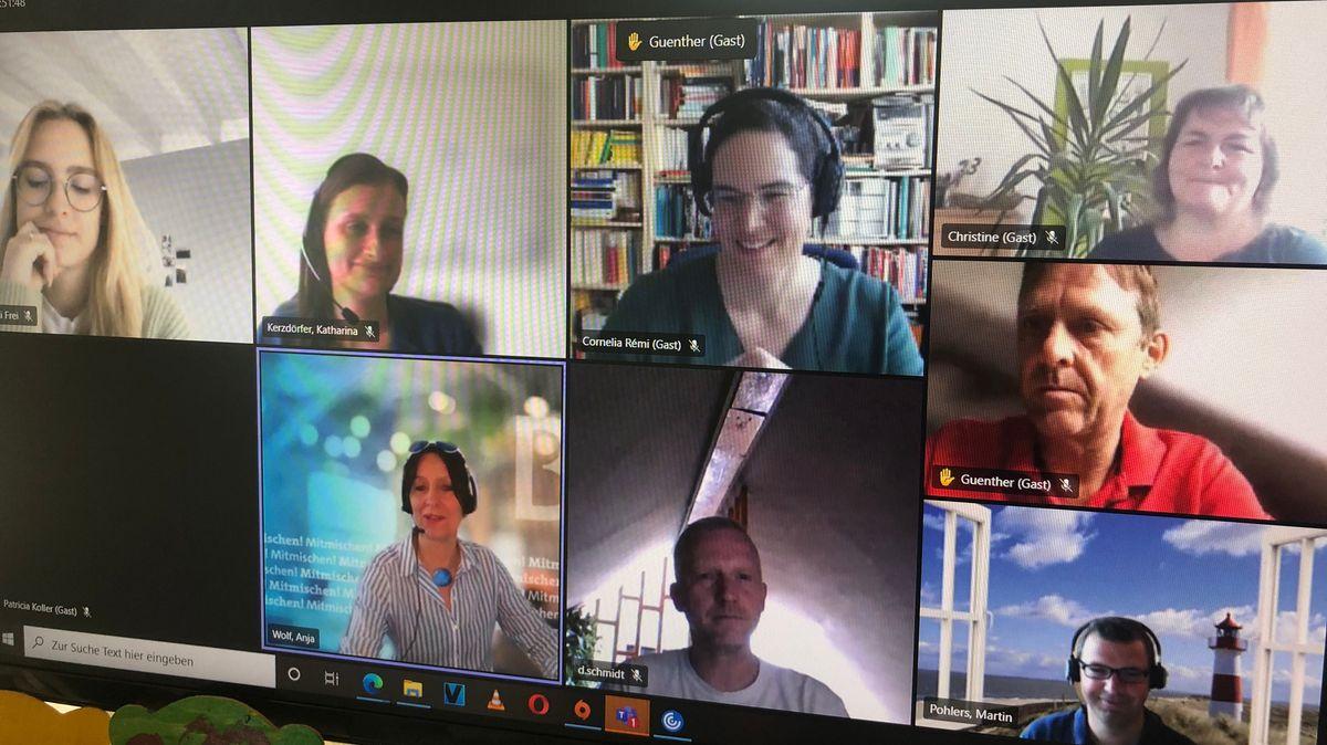 Videokonferenz (Ausschnitt) beim Mitmischen.