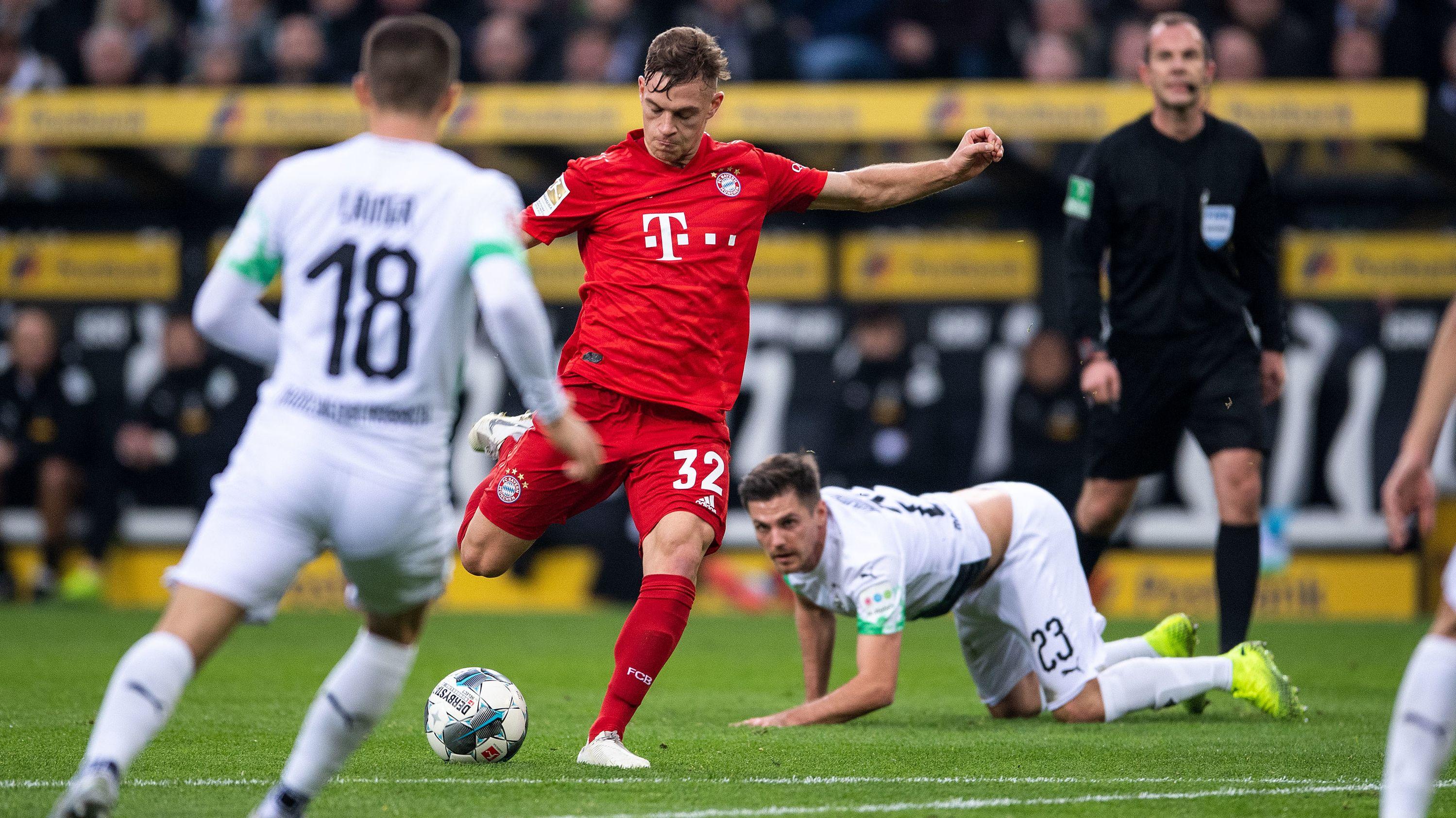 Szene aus dem Spiel Mönchengladbach gegen den FC Bayern München