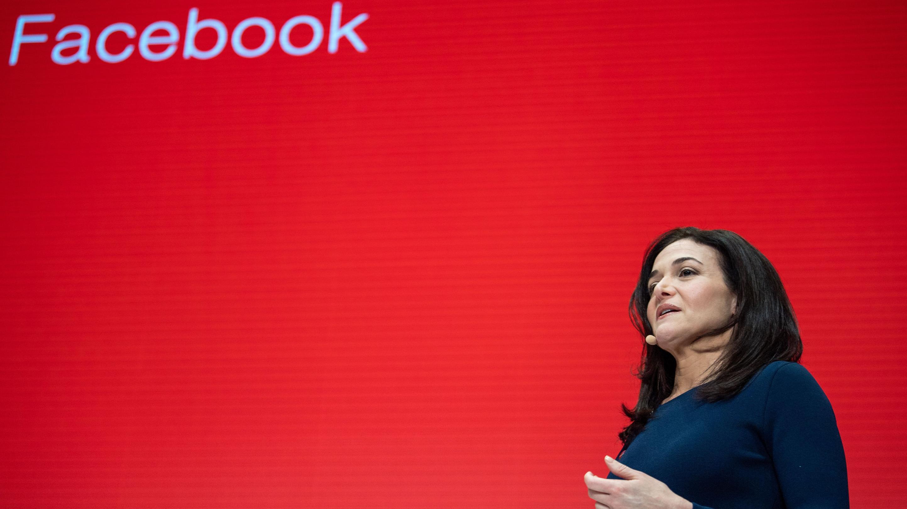 20.01.2019, Bayern, München: Sheryl Sandberg, Geschäftsführerin von Facebook, spricht bei der Innovationskonferenz Digital-Life-Design (DLD)
