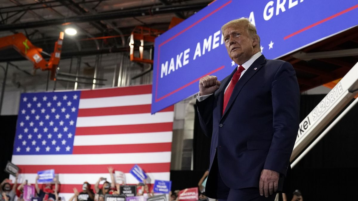 US-Präsident Donald Trump bei einer Wahlkampfveranstaltung am 13.9.20
