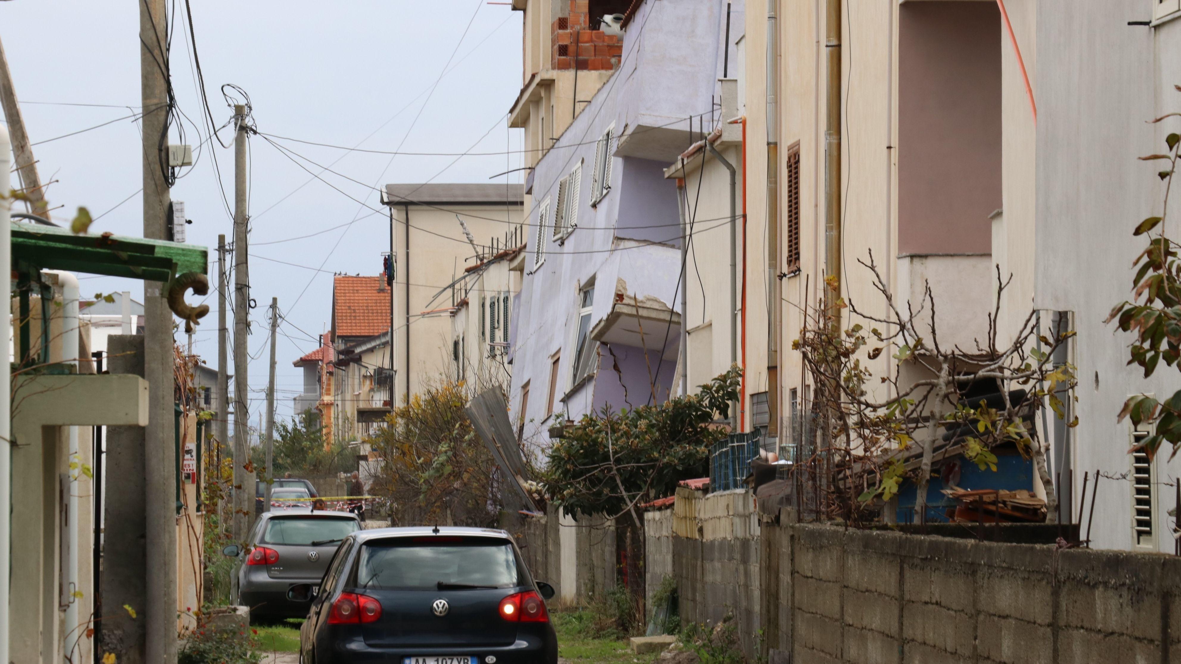In der Stadt Durrës sind viele Häuser zerstört