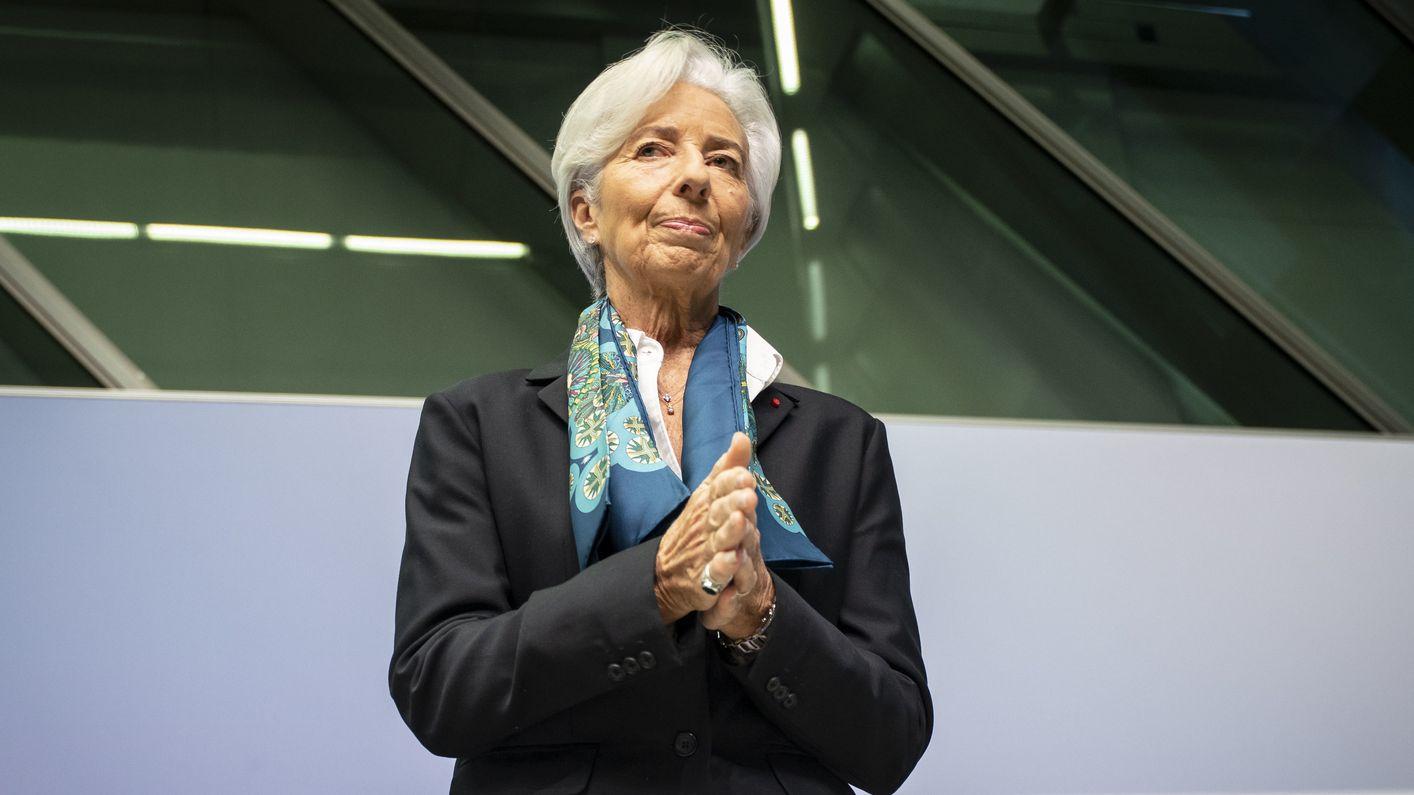 Die neue Präsidentin der Europäischen Zentralbank, Christine Lagarde, nach der EZB-Ratssitzung, die sie zum ersten Mal geleitet hat.