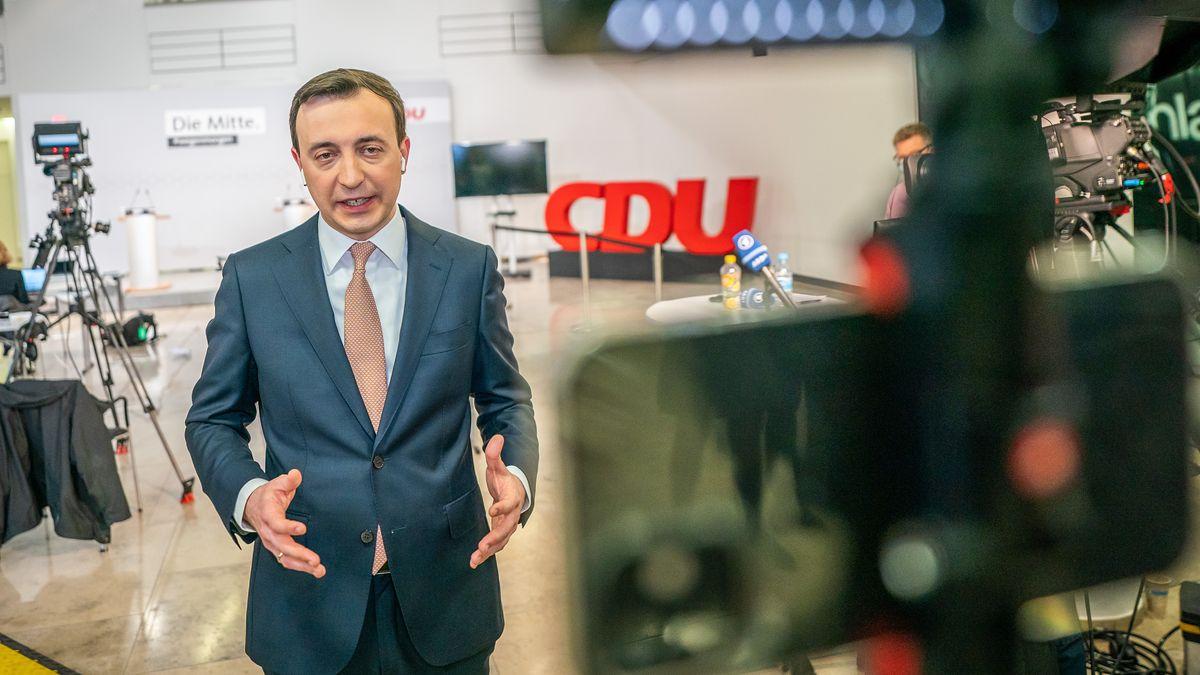 """CDU-Generalsekretär Paul Ziemiak sagt: """"Das war kein guter Wahlabend für die CDU"""""""