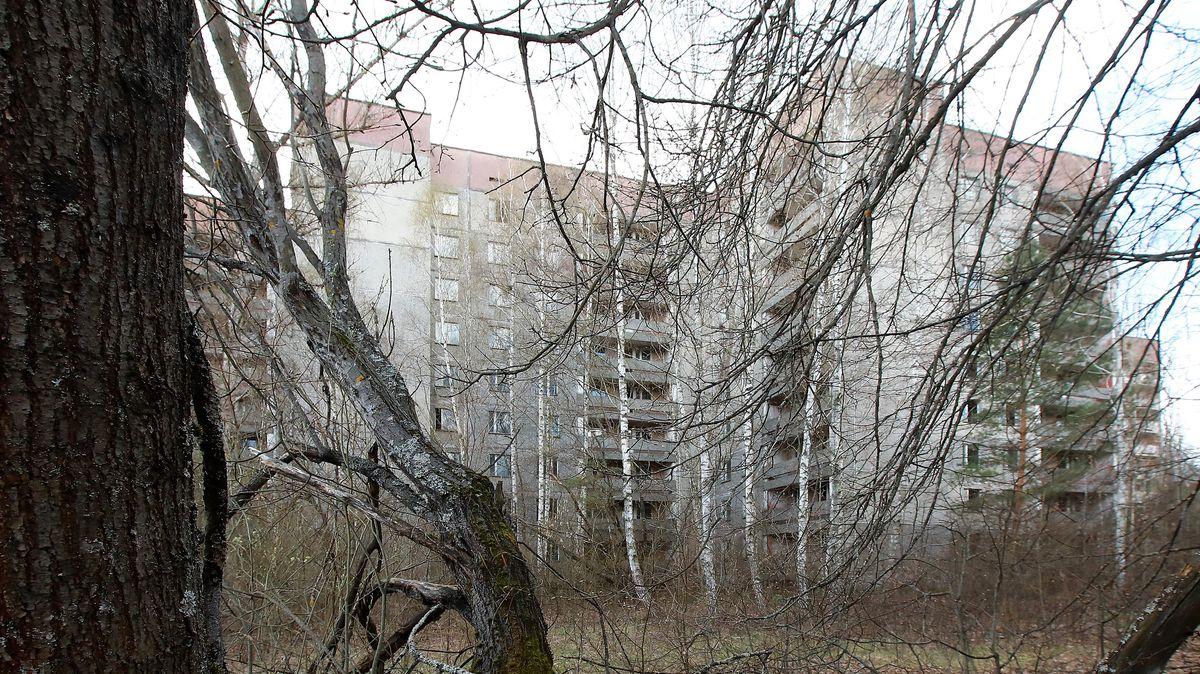 Ukraine: Ein verlassenes Gebäude in Prypiat bei Tschernobyl.