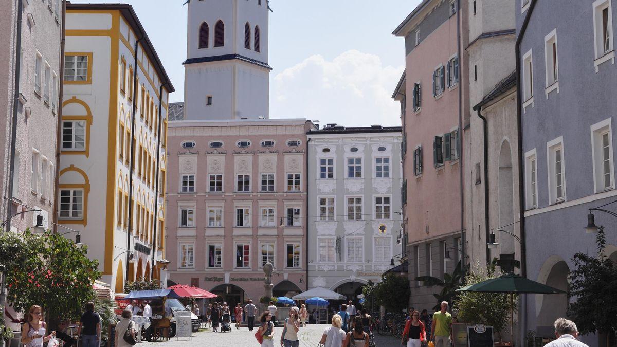 Blick in Rosenheims Innenstadt.