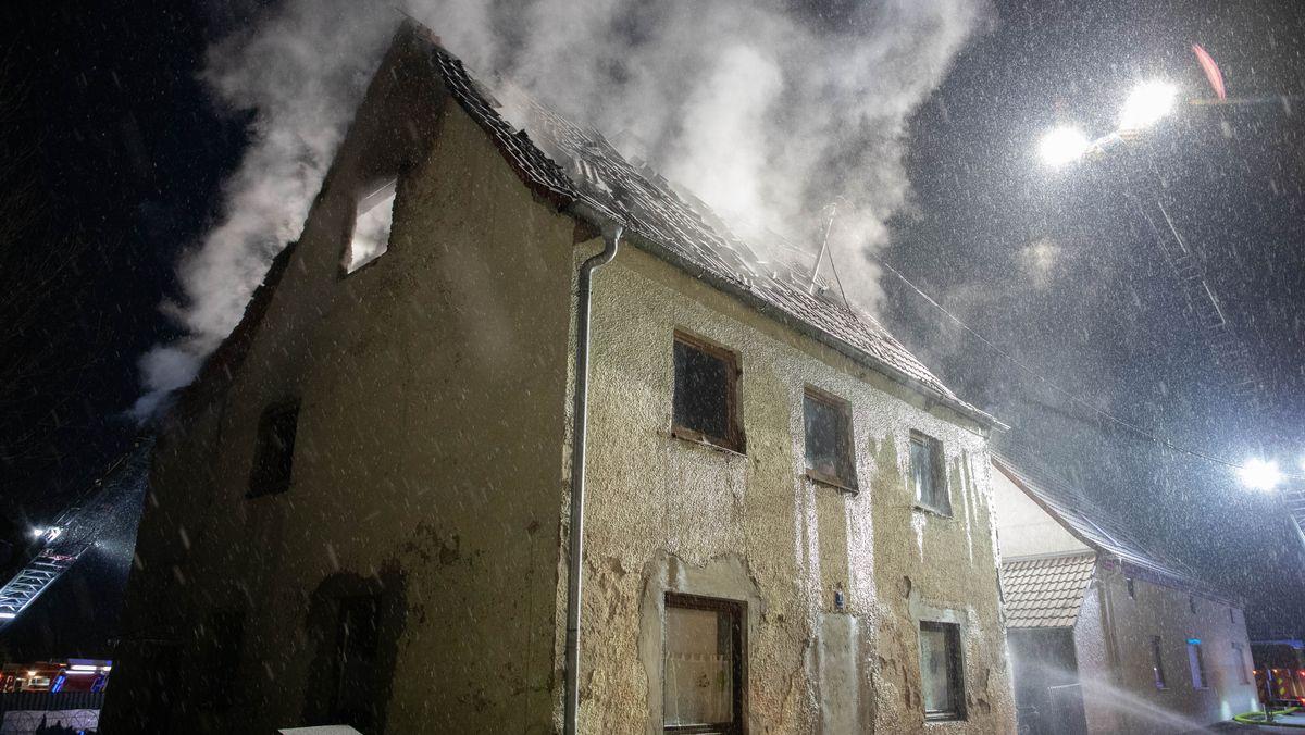 Brennendes Haus in Geisenfeld