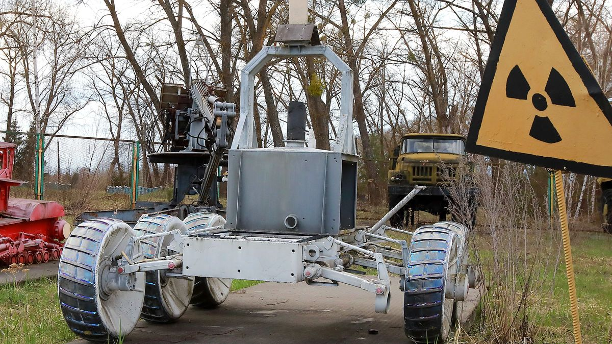 Tschernobyl: Ein spezieller Transportroboter, der eingesetzt wurde, um die hoch radioaktiven Elemente vom Dach des Reaktorgebäudes zu entfernen