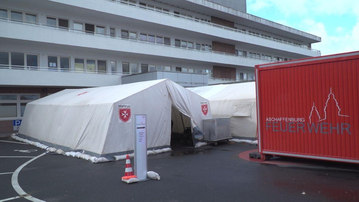 Coronavirus-Prävention: Untersuchungszelt in Aschaffenburg