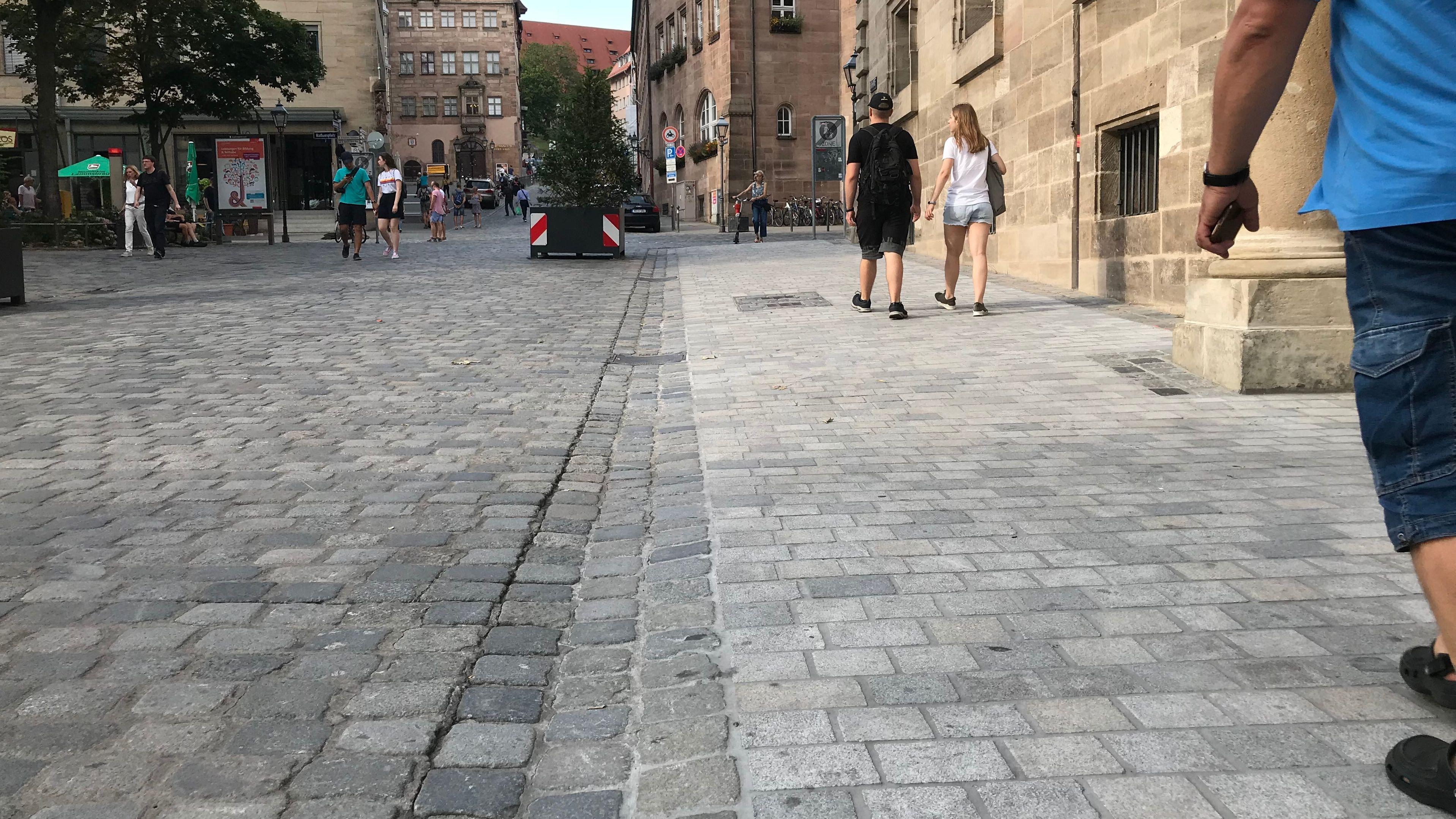 Barrierearmes Kopfsteinpflaster Nuernberg