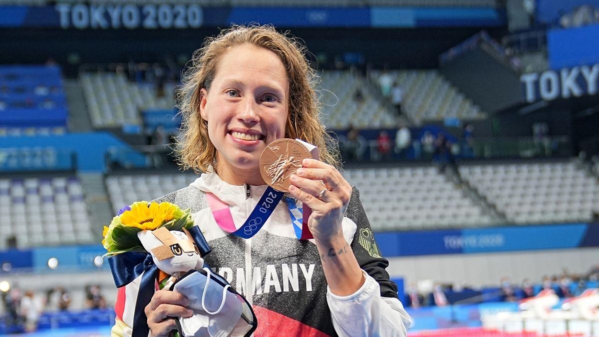 Schwimmerin Sarah Köhler mit Olympia-Bronzemedaille