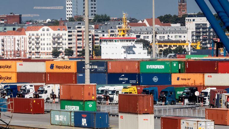 Container im Hamburger Hafen | Bild:picture alliance/dpa | Markus Scholz