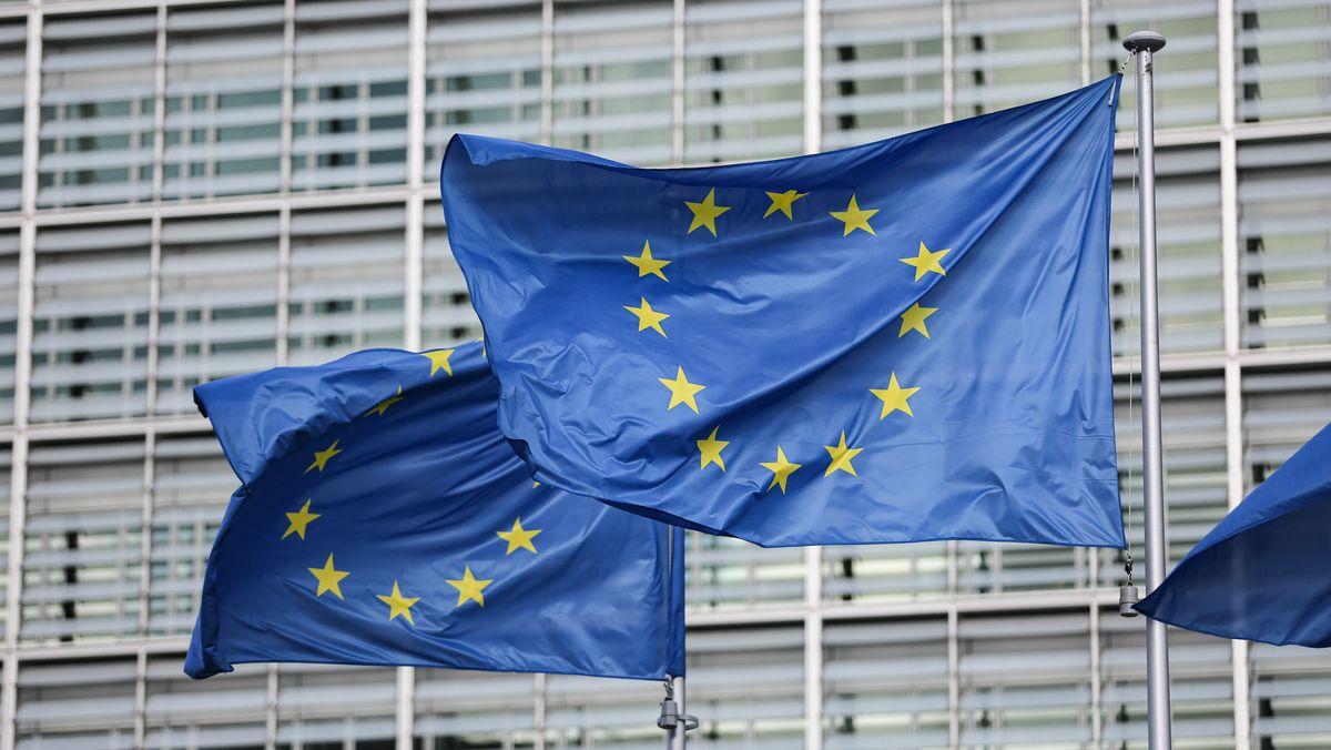 Europaflaggen in Brüssel (Symbolbild)