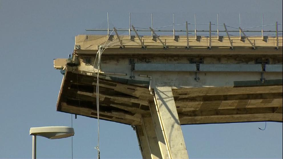 Autobahnbrücke in Genua    Bild:Rundschau