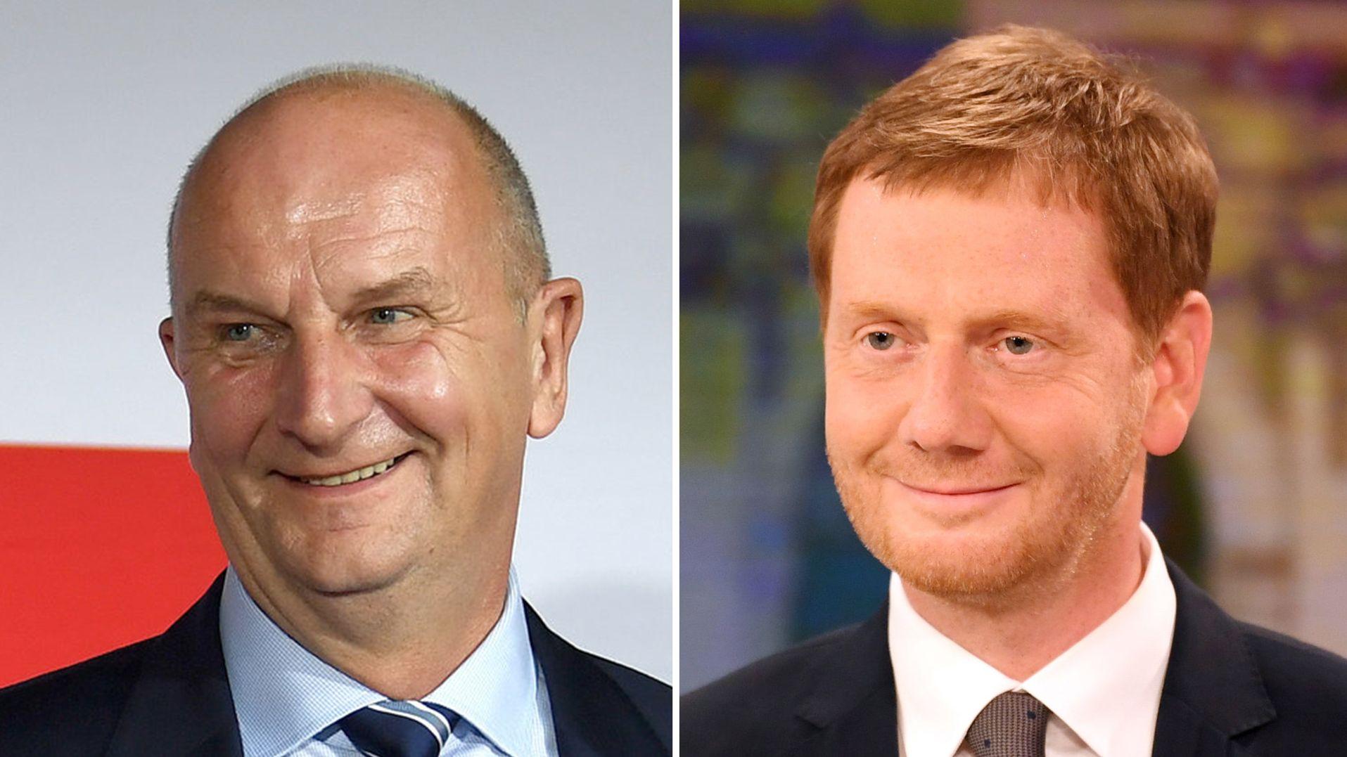 Dietmar Woidke (SPD Brandenburg) und Michael Kretschmer (CDU Sachsen)