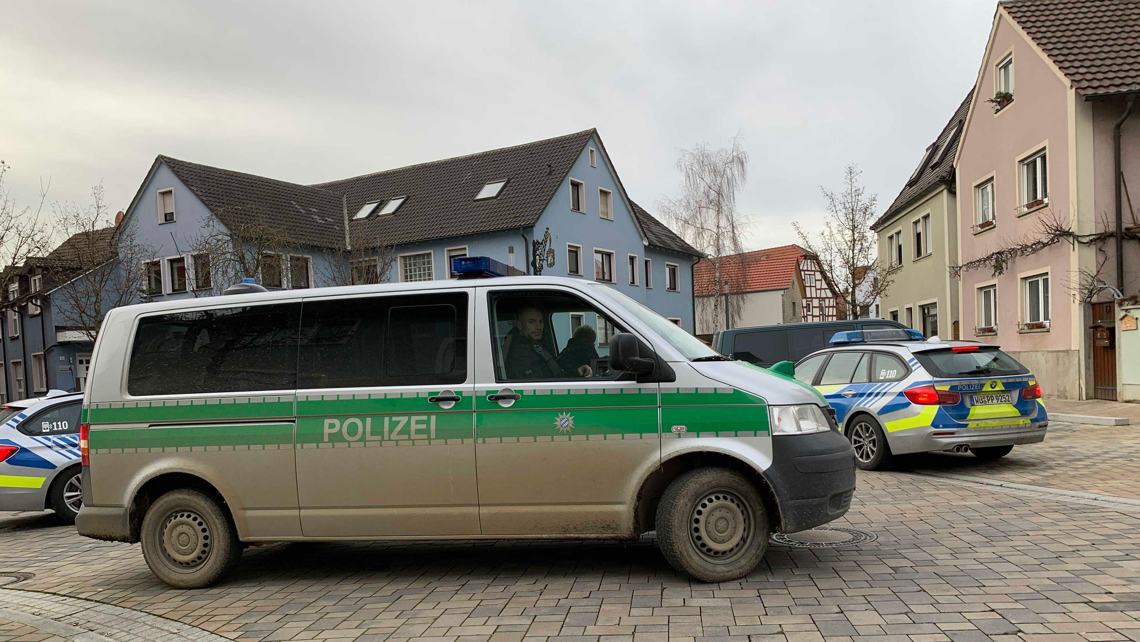 Polizeieinsatz in Kürnach