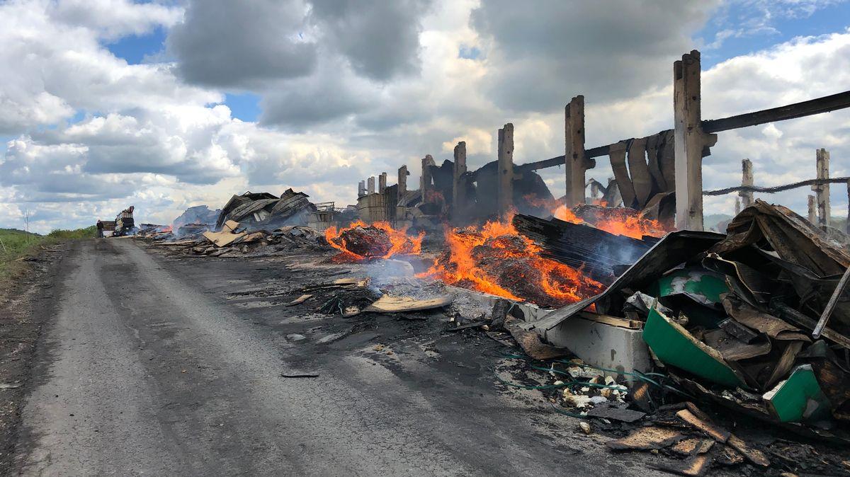 Betrieb für Fertighäuser in Burgbernheim nach dem Brand.