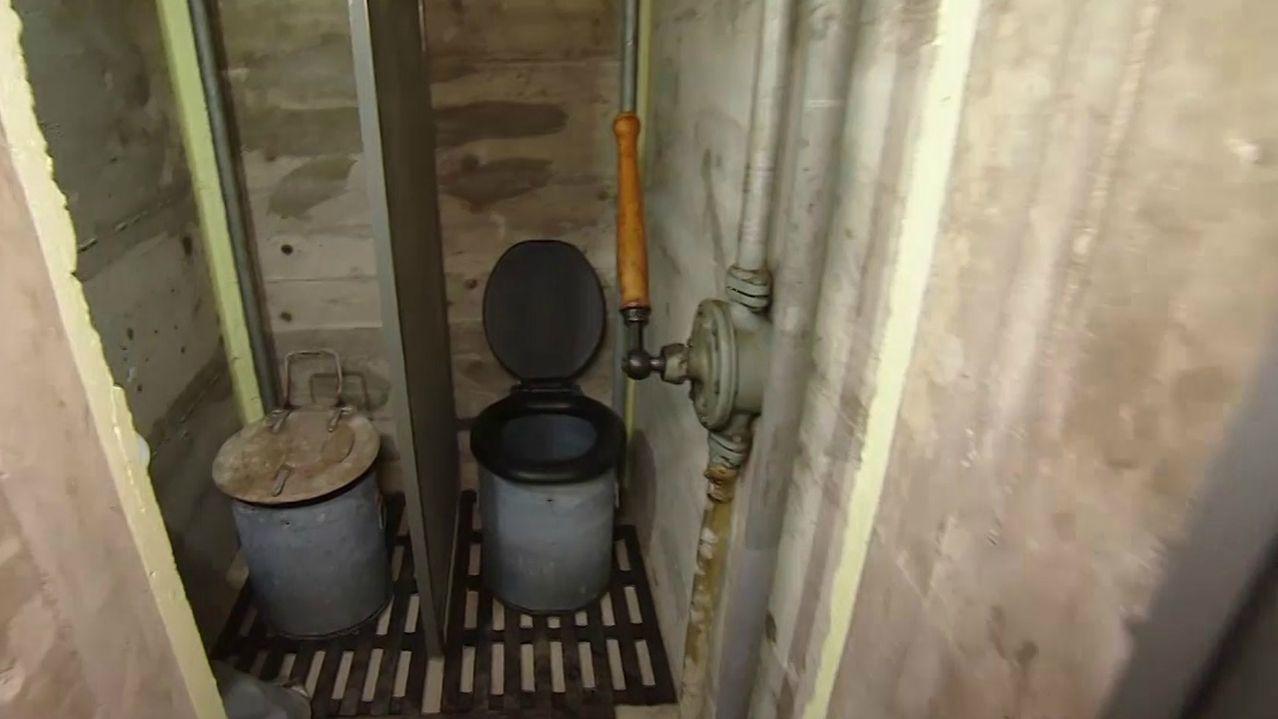 Die Toiletten im Bunker in Mellrichstadt