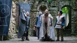 Vier Schauspieler vor Felsengängen | Bild:Pressefoto Studiobühne Bayreuth