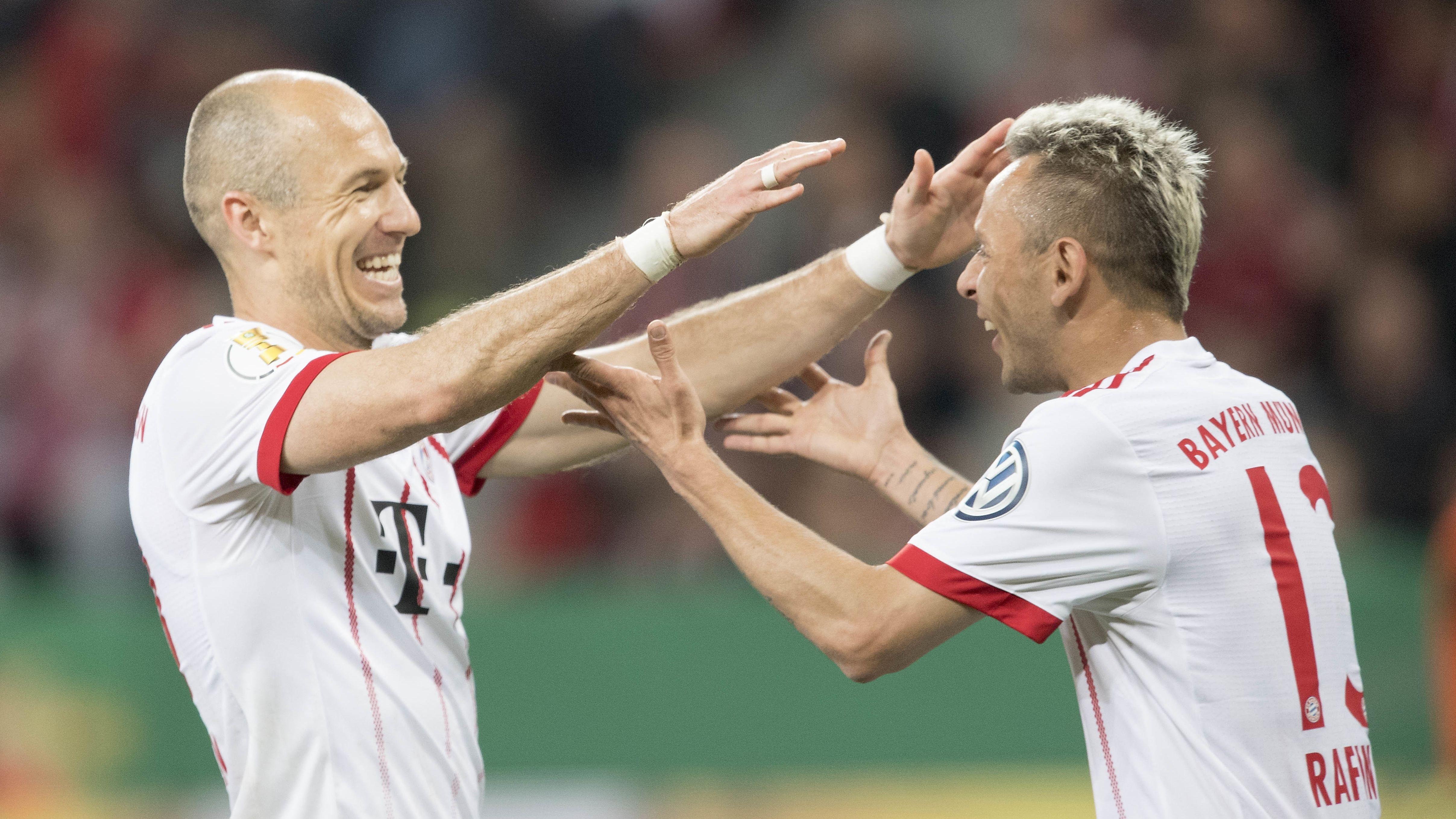 Arjen Robben und Rafinha
