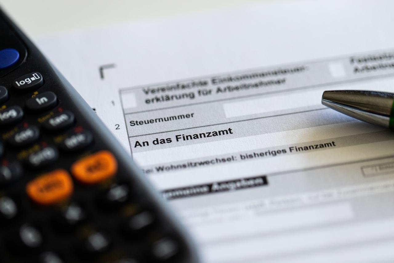 Unterlagen zur Einkommensteuererklärung.