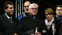 Bundespräsident Frank-Walter Steinmeier mit seiner Frau Elke Budenbender. | Bild:Kai Pfaffenbach/Reuters