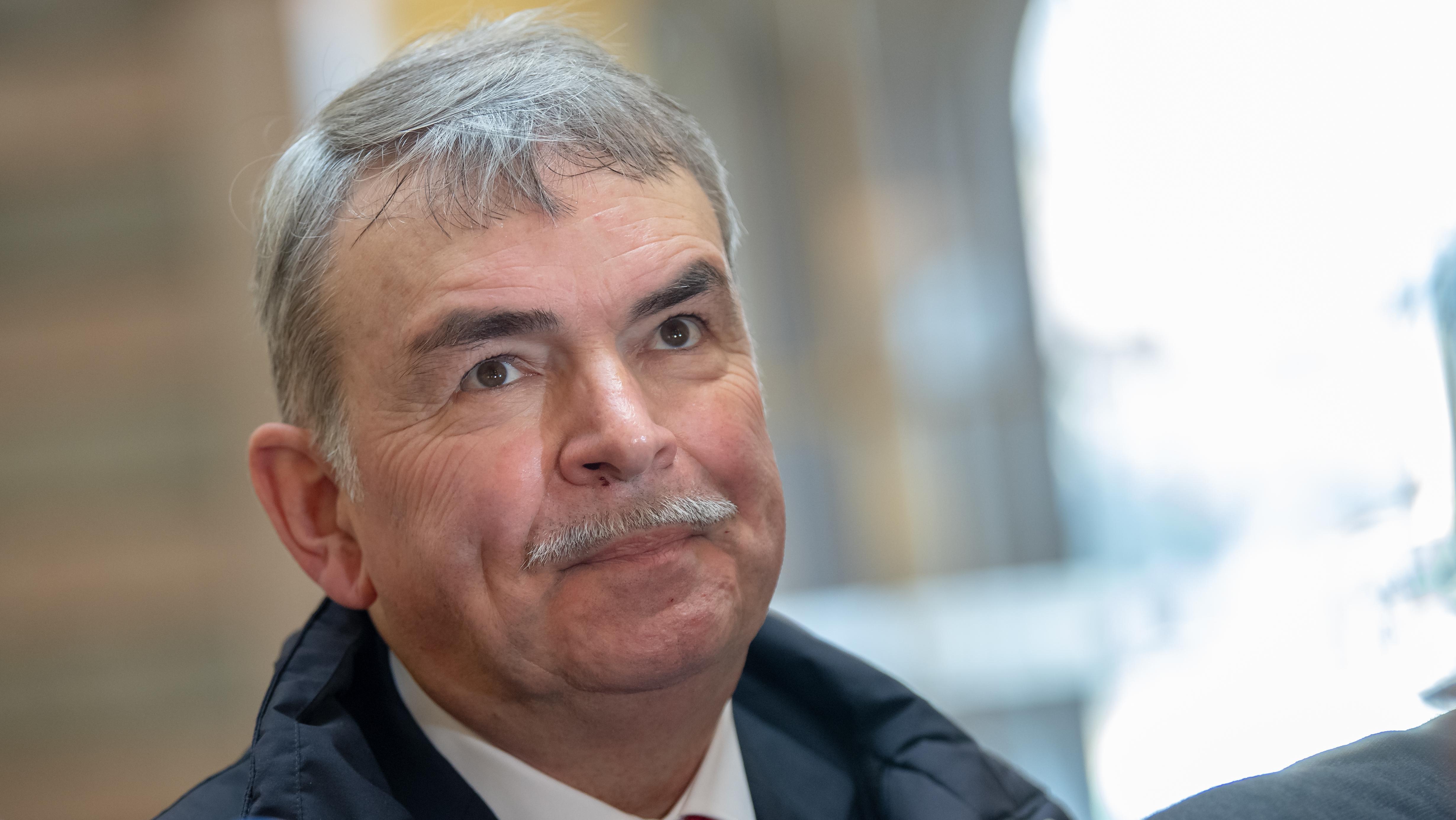 Gustl Mollath  vor Prozessbeginn.