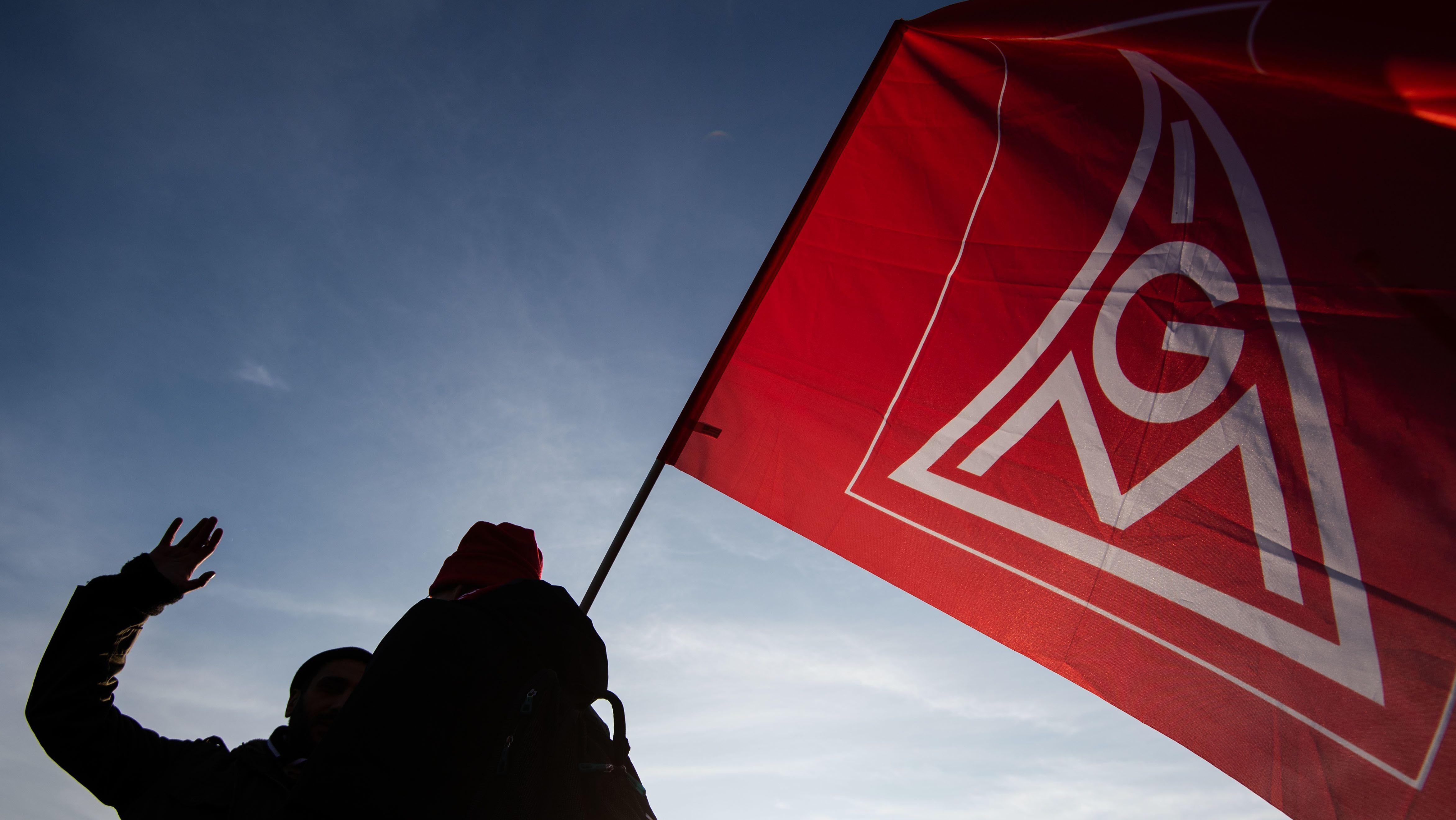 Fahne der IG-Metall